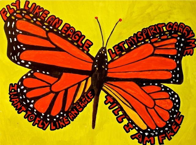 """Fly like a butterfly, sting like a Bee Gee"", 2012"